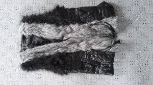 Chaleco de piel negro