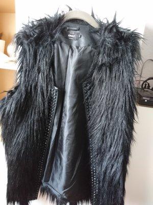 Only Fake Fur Vest black