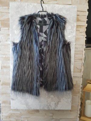 Rino & Pelle Smanicato di pelliccia nero-grigio