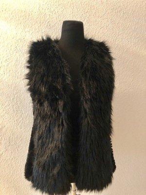 Giacca di pelliccia nero Cotone