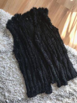 Soyaconcept Gilet en fourrure noir pelage