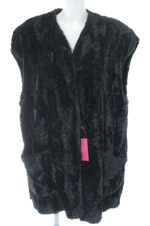 Smanicato di pelliccia nero stile stravagante