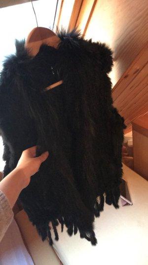 Smanicato di pelliccia nero