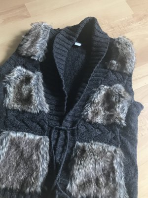 edc by Esprit Gilet en fourrure multicolore