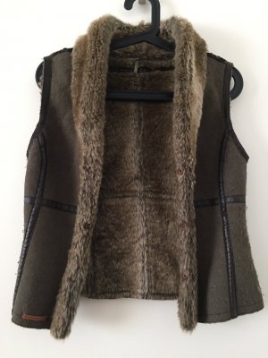 Jake*s Gilet en fourrure multicolore fourrure artificielle