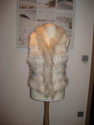 Smanicato di pelliccia bianco sporco-bianco