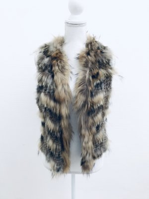 Fur vest light brown-brown
