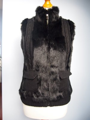 Oakwood Fur vest black fur