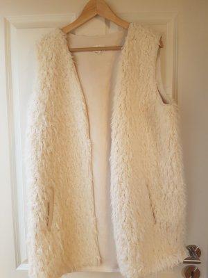 Opus Smanicato di pelliccia bianco sporco