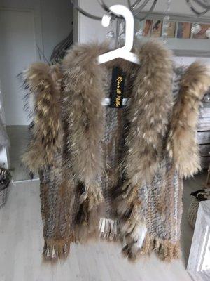 Rino & Pelle Giacca di pelliccia marrone-grigio-beige