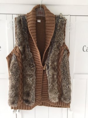s.Oliver Fur vest multicolored viscose
