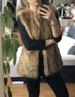 Fellweste Zara, beige-braun