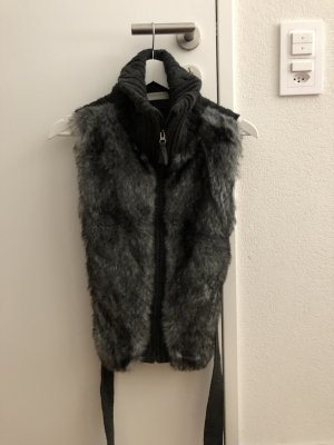 Sutherland Fake Fur Vest anthracite