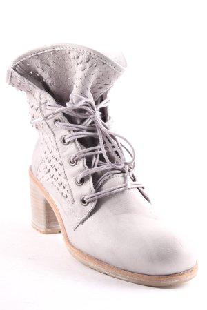 Felmini Botas de tobillo gris claro-marrón claro estilo romántico