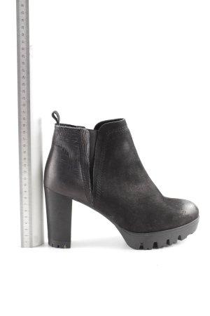 Felmini Chaussure à talons carrés noir style d'affaires