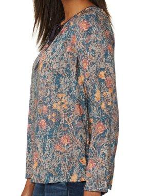 Feminine Bluse mit aktuellem  floralem Muster, Gr. 34/36