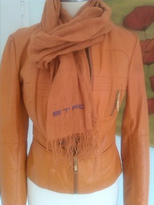 Feminine Lederjacke in orange