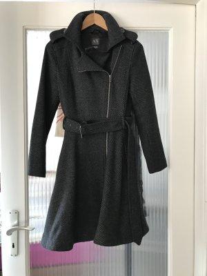 Armani Exchange Abrigo de lana gris antracita-gris