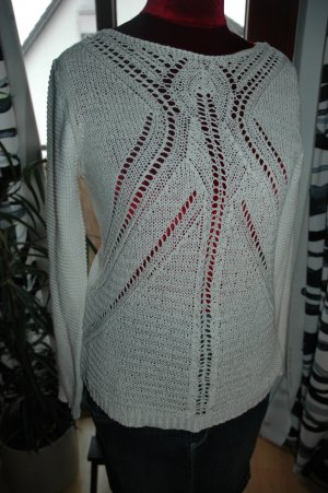 Vila Coarse Knitted Sweater white