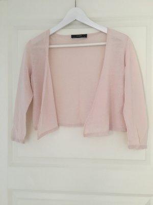 Hallhuber Boléro en tricot rosé