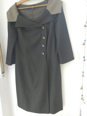 Coat Dress dark grey-light grey viscose