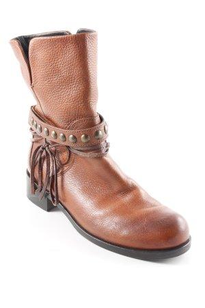 Femme Ankle Boots cognac Boho-Look