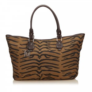 Fendi Borsa larga marrone