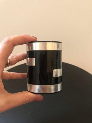 Fendi Braccialetto nero-argento