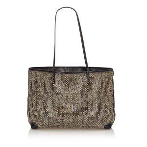 Fendi Braided Leather Tote Bag