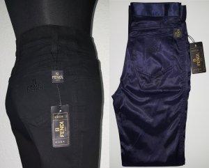 FENDI Brezo Stretch High Waist Hose / Größe 34 / Slim Fit / Dunkelblau