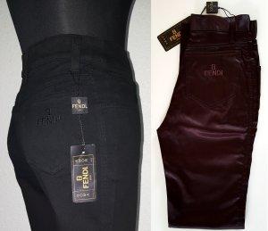 FENDI Brezo Stretch High Waist Hose / Größe 34 / Slim Fit / Dunkelbraun