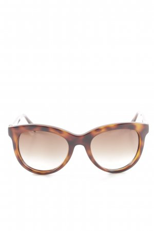 Fendi Retro Brille braun-hellorange Leomuster Business-Look