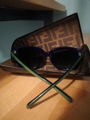Fendi Occhiale da sole blu scuro-verde bosco