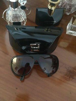 FENDi Brille, schwarz mit Silber