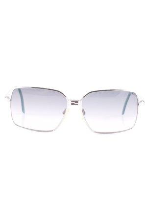 Fendi Brille silberfarben-blassblau schlichter Stil