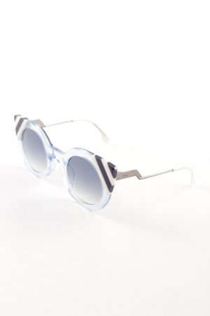 Fendi Butterfly Brille Streifenmuster extravaganter Stil