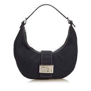 Fendi Canvas Hobo Bag
