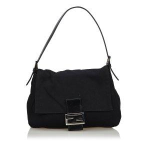 Fendi Cotton Mamma Baguette Shoulder Bag