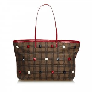 Fendi Cotton Studded Tote Bag