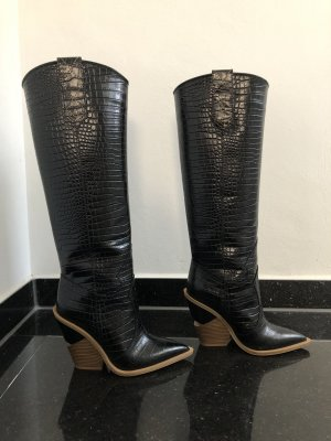 Fendi Western Boots black leather