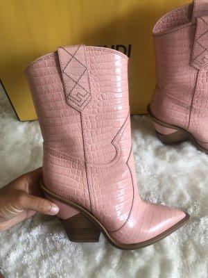 Fendi Borceguíes rosa claro
