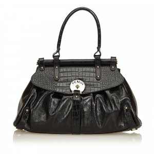 Fendi Crocodile-Trimmed Magic Bag