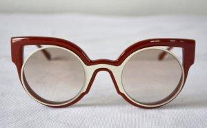 Fendi Damen Cateye Sonnenbrille FF 0137/S Rot beige RAR