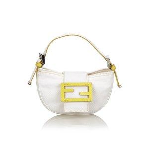 Fendi Denim Mini Baguette Bag