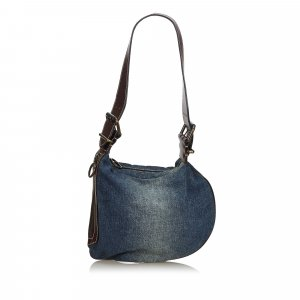Fendi Denim Oyster Shoulder Bag