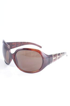 Fendi Hoekige zonnebril bruin casual uitstraling