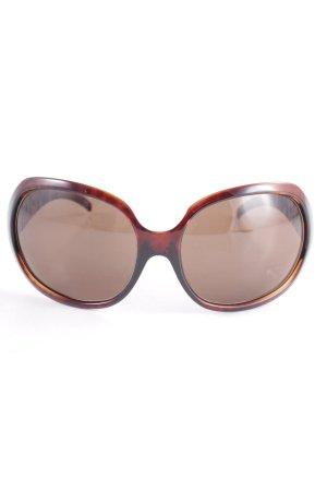 Fendi Occhiale da sole spigoloso marrone stile casual