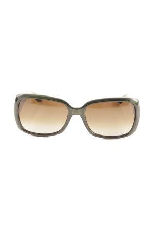 Fendi Occhiale da sole spigoloso oro-verde bosco elegante