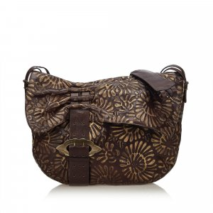 Fendi Embossed Leather Crossbody Bag