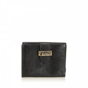 Fendi Embossed Leather Short Wallet